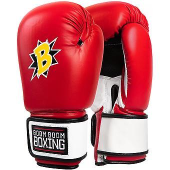 Title Boxing boom boom Bomber training bokshandschoenen-rood/wit/zwart