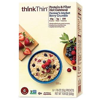 Think Thin Protein & Fiber Hot Oatmeal Farmers Market Berry Crumble