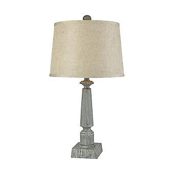 Restoration grey trice table lamp in restoration grey stein world