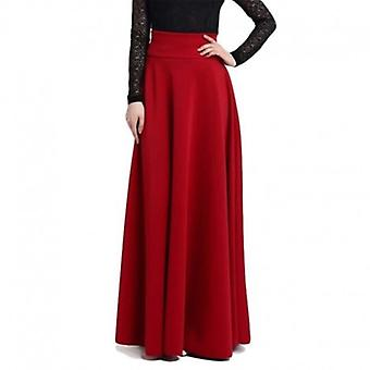 Long  Plus Size Ladies A-line Skirt