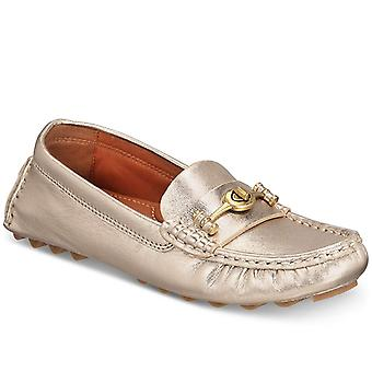 Coach Womens Crosby Driver Leather Closed Toe Espadrille Flats