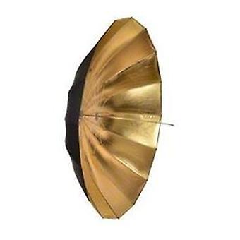 BRESSER BR-BG180 jumbo reflex paraply svart/guld 180cm