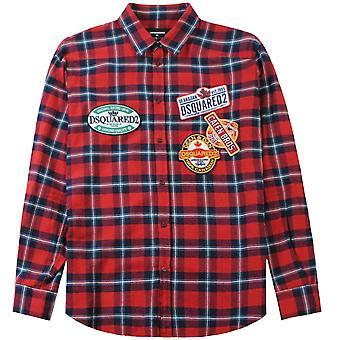 Dsquared2 Dsq2 Label Pattern Shirt