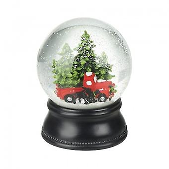 Heaven Sends Xmas Trees & Red Car Snowglobe