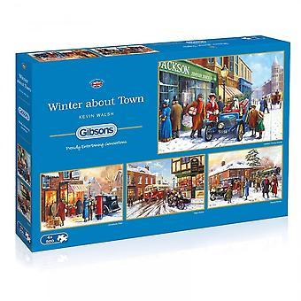 الشتاء جيبسون حول بلده قطعة 4 × 500 الألغاز