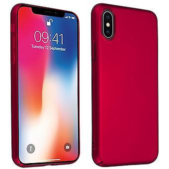Cadorabo Veske til Apple iPhone X / XS tilfelle tilfelle deksel - Hardcase plast telefon veske mot riper og støt - Beskyttende case Støtfanger Ultra Slim Tilbake Tilfelle Hardt Deksel