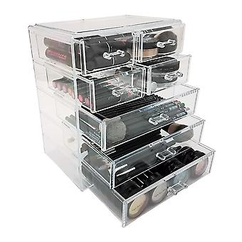 OnDisplay Cosmetic Makeup and Jewelry Storage Case Display - 7 Drawer Design - Perfect for Vanity, Bathroom Counter, or Dresser