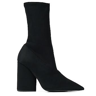 Season 8 Onyx Stretch Satin Ankle Boots