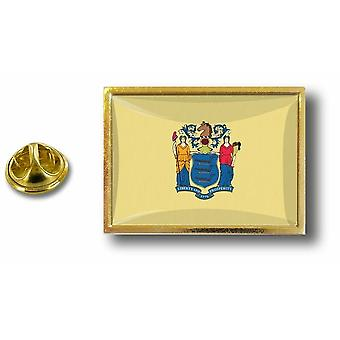 Kiefer PineS Pin Abzeichen Pin-Apos;s Metall Schmetterling Schmetterling Flagge USA New Jersey