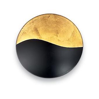 Ideell Lux - soloppgang store svart / gull veggen lys IDL133300