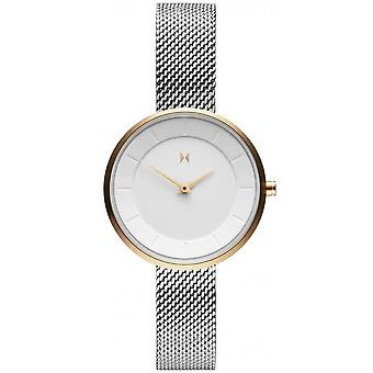 Watch MVMT D-FB01-SG - Bo tier Dor Cadran White Silver Steel Bracelet Milanese Women