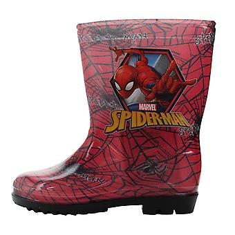 Spiderman Boys Soputan Slip On Wellington Boots UK Sizes Child 8-2