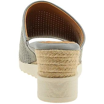 Easy Spirit Womens Zooey Leather Peep Toe Casual Mule Sandals