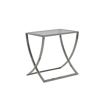 Light & Living Console 60x40x60 Cm MOLINA Glass+nickel