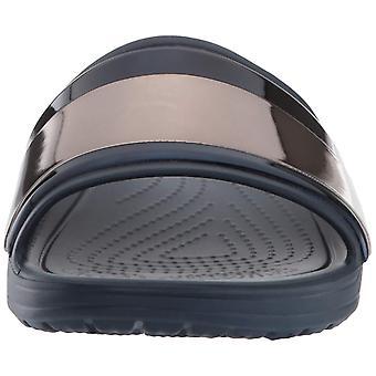 Sandalo slide in Sloane MetalBlock da donna Crocs