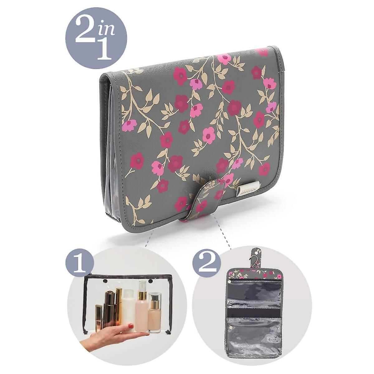 'victoria green' kate hanging beauty bag in blossom charcoal