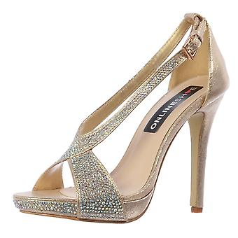 Onlineshoe Diamante Party Shoe With Ankle Strap