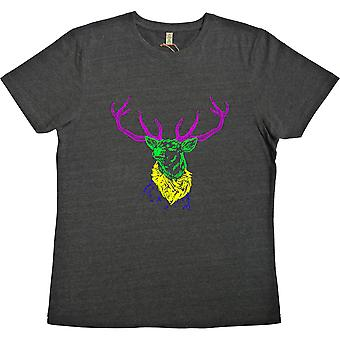 Psychedelic Deer Variant Two Black 100% Recycled T-Shirt