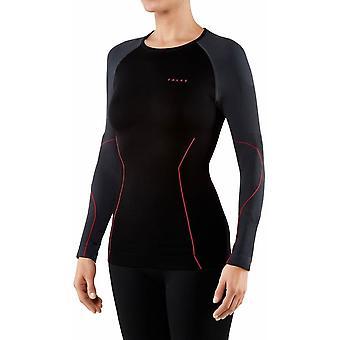 Falke kleur blok Raglan shirt met lange mouwen-zwart