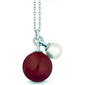 QUINN - Necklace - Silver - Pearl - Chalcedony - Freshwater - 27601968