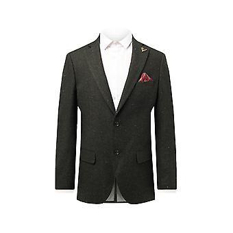 Dobell Herre grøn Flecked Donegal Tweed jakke regelmæssig pasform