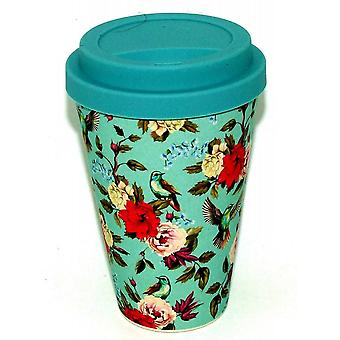 History & Heraldry Bamboo Eco Travel Mug - Birds & Flowers