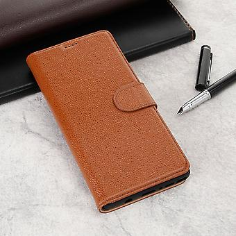 Pour Samsung Galaxy NOTE 9 Case Fashion Brown Cowhide Genuine Leather Slim Wallet