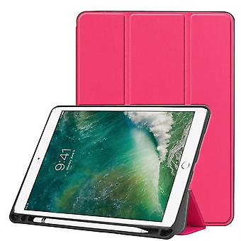 Para iPad Air 3 (2019) Funda, Karst Texture PU Cuero Folio Cover, Pen Slot,RoseRed