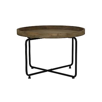 Light & Living Side Table 75x50cm Antigua Metal Black And Wood