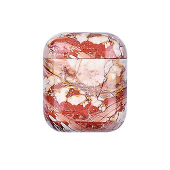 Protective case for AirPods - Red Marble