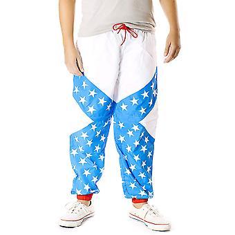Funny Guy Mugs USA 80s & 90s Retro Windbreaker Pants,, Usa, Size XX-Large
