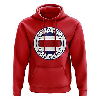 Costa Rica Football Badge Hoodie (Red)
