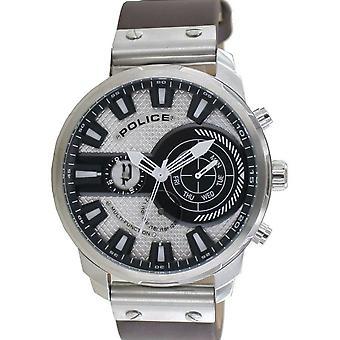 Police Herren Uhr Armbanduhr Leder Analog Leicester PL15217JS.04A