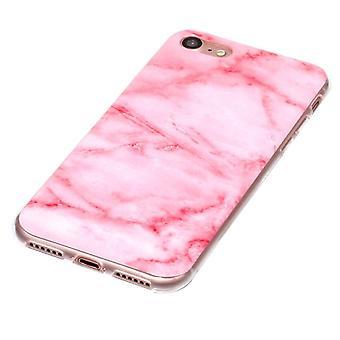 Pink marmor shell til iPhone 7