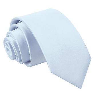 Baby Blue Plain Satin Regular Tie for Boys