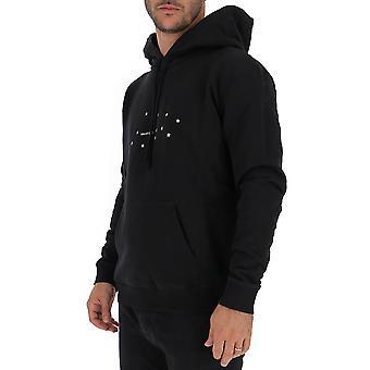 Saint Laurent 577092ybjh21081 Men's Black Cotton Sweatshirt