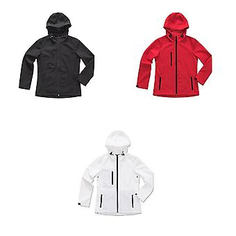 Stedman Womens/Ladies Active Softest Shell Hooded Jacket