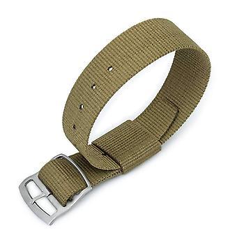 Strapcode n.a.t.o watch strap 21mm miltat raf n7 nato watch strap, military green, sandblasted ladder lock slider buckle
