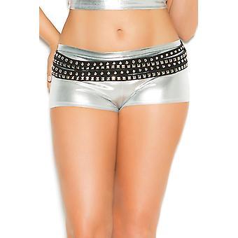 Kvinnors sexig Booty Shorts Wet Look glänsande Rave Boyshort underkläder Trosor