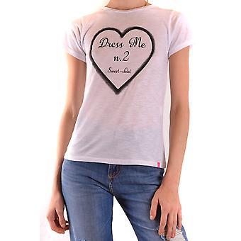 Sweet Matilda Ezbc407011 Women's White Cotton T-shirt