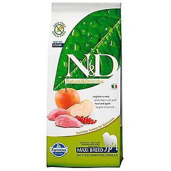 Farmina N&D Grain Free Adult Maxi Wild Boar and Apple (Dogs , Dog Food , Dry Food)