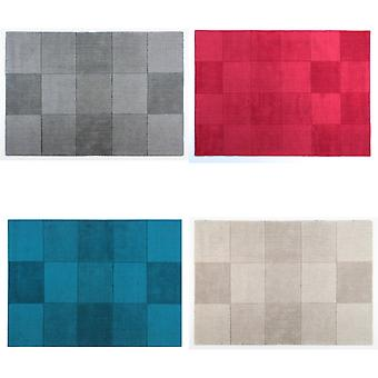 Flair Rugs Wool Squares Design Floor Rug