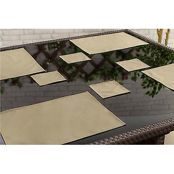 Stone 6 Pack de posavasos al aire libre al aire libre jardín impermeable jardín tela comedor