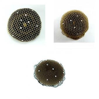 ShowQuest Womens Bun netto med Swarovski kristaller