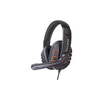Ovleng X6 Wired Stereo Headphone With Microphone Orange