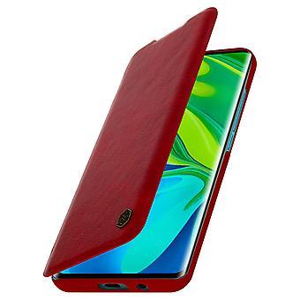 Nillkin Qin-serie flip wallet case, kaartsleuf Xiaomi Mi Note 10 / 10 Pro Red