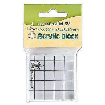 LeCrea - Acrylic clear stamp block 55.2205  45x45x10mm