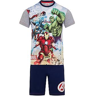 Marvel Avengers Iron Man Hulk Captain America Official Gift Boys Short Pyjamas