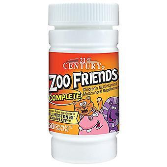 21st century zoo friends complete, multivitamin, tablets, 60 ea