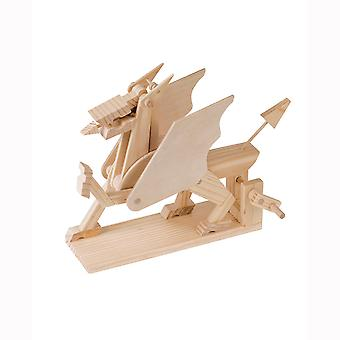 Timberkits Dragon - Welsh - Wooden Moving Model Natural Wood Construction Gift